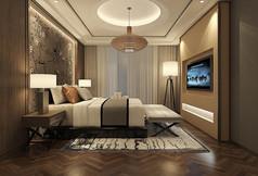 新中式公寓式套房3D模型