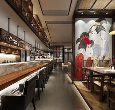日式料理餐厅3D设计模型
