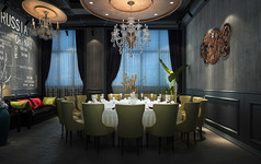LOFT风格酒店包间3D模型