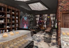 西点咖啡店3D设计素材