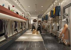 时尚服装店3D设计素材