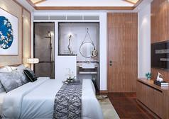 民宿卧室设计3D模型素材