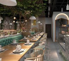泰式餐厅公共区域3D设计素材