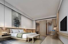 精品酒店客房3D模型素材