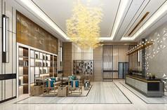 酒店接待厅3D模型素材