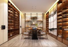 中式茶室设计3D模型素材