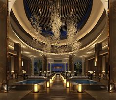豪华洗浴中心大堂设计素材