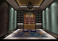 中式祠堂3D设计模型素材