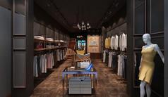 混搭服装店3D模型素材