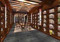 高端茶叶店设计模型素材