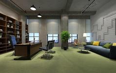 工业风经理办公室模型素材