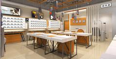 工业风格眼镜店模型素材