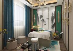 中式风格养生室3D模型素材