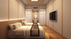 日式风格宾馆3D模型素材
