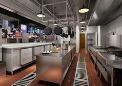 厨房后厨高设计3D模型素材