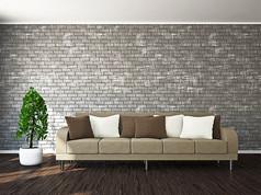 创意绿色植物沙发