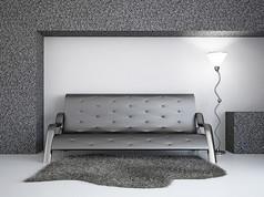 简约艺术灯和沙发
