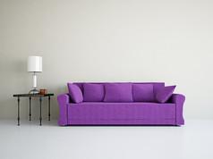 创意紫色沙发台灯