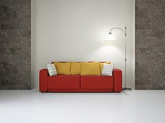 创意红色沙发落地灯
