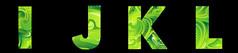 绿色花纹字母免抠字体