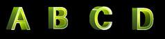 唯美翠绿色字母免抠素材