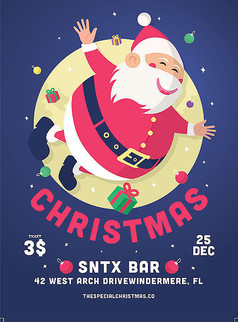 圣诞节卡通促销海报