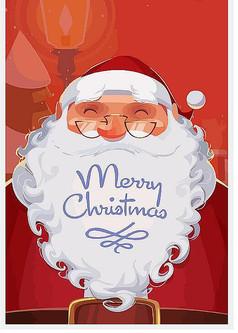 卡通圣诞老人照片矢量图
