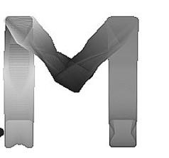 水墨M字母免抠素材