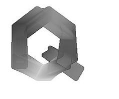 水墨Q字母免抠素材