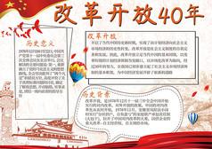 改革开放四十年海报