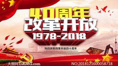 40周年改革开放海报