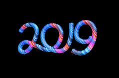 2019创意海报字体psd