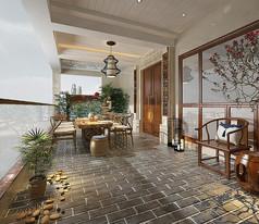 中式阳台模型素材