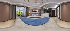 温馨卧室3D全景模型