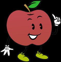卡通人物苹果表情