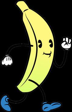 卡通人物香蕉表情
