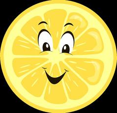 卡通柠檬片人物表情