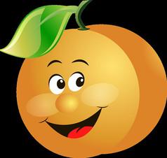 卡通人物橘子表情