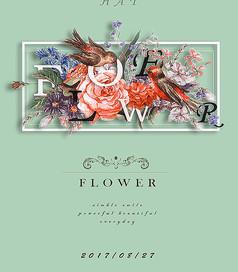 FLOWER小清新海报