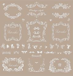 反白欧式花纹矢量素材