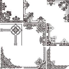 欧式典雅花纹边框矢量素材 (1)