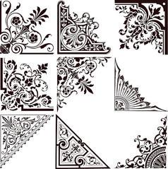 欧式典雅花纹边框矢量素材 (2)