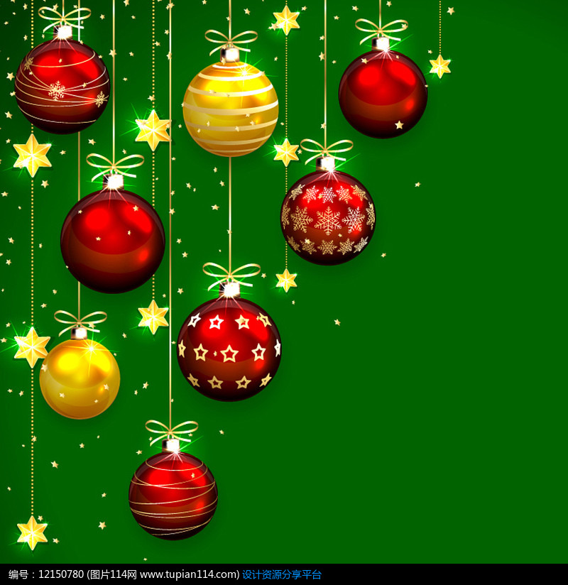 精美圣诞球设计AI矢量图平面设计素材