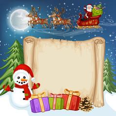 圣诞雪人装饰纸张AI矢量图设计素材