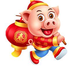 背着灯笼的猪