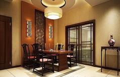 中式风格餐厅模型
