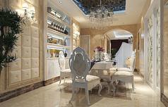 欧式餐厅3d模型