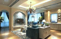 地中海客厅模型