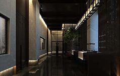 中式风格走廊模型