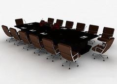 大型会议桌模型